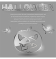 glass theme for halloween vector image