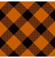 Halloween Tartan Seamless Pattern vector image