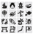 Japanese icon set vector image