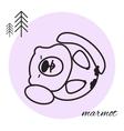 mammon thin line icon vector image