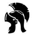 roman helmet icon simple black style vector image
