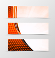 Set of header banner technologic design vector image vector image