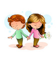 boy and girl love vector image