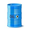Metal barrel with oil vector image vector image