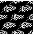 Seamless pattern of a black and white checkered vector image vector image