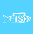 Fish design modern layout background logo vector image vector image