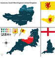 Somerset South West England vector image