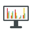 Computer screen with business graph icon vector image