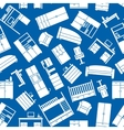 Household and office furniture pattern vector image vector image