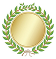 laurel wreath with medal vector image