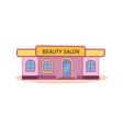 modern nice beauty salon building vector image