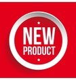 New Product sticker red vector image