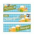 Oktoberfest 2016 horizontal banners vector image