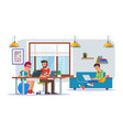 coworking center concept flat vector image vector image