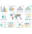 infographic design elements demographic vector image
