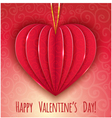 Decorative paper red heart for Valentines Day vector image