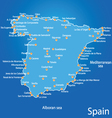 spain map art vector image