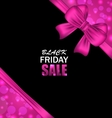 Glowing Banner Clearance for Black Friday Sales vector image vector image