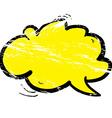 grunge cartoon cloud speech bubble vector image vector image