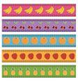 fruit borders vector image vector image