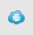 Blue printer icon vector image