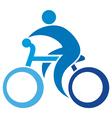 cyclist icon-bicycle symbol vector image