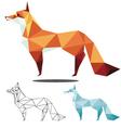 fox low polygon vector image