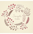 Hand drawn floral wreath with natural elements vector image