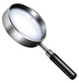 Magnifying glass on white vector image