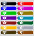 Medicine icon sign Set from fourteen multi-colored vector image