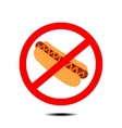 no hot dog vector image