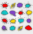 pop art comic speach bubbles vector image