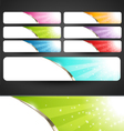 Premium Abstract Web Banners Set vector image