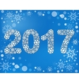 The figures 2017 made from snowflakes vector image