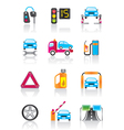 Car service auto assistance and auto accessories vector image vector image