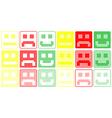 Basic Smilies Symbols Patchwork of Color Dots vector image