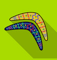 australian boomerang icon in flat style isolated vector image