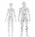 Human body molecular concept vector image