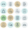 set of 16 communication icons includes mail vector image