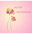 two flowers on a pink background vector image vector image