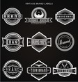 Vintage Brand Labels vector image