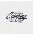 Camping sign handmade differences made using vector image vector image