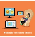 Satirical Caricature Edition Design Flat vector image