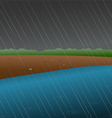 rainy river vector image