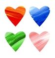 Acrylic colorful hearts vector image