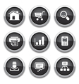 black web buttons vector image