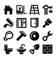 Construction Icons Set on White Background vector image