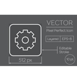 Gear Pixel Perfect Icon vector image