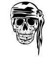 Pirate with bandana vector image