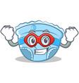 super hero baby diaper character cartoon vector image